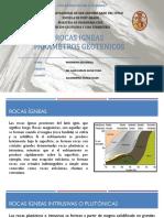 Rocas Igneas - Parametros Geotecnicos
