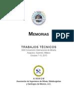 XXXI Convencion AIMMGM Memorias Tecnicas libre