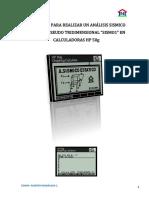Analisis Sismico Estatico Pseudotridimensional HP 50g