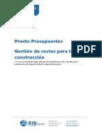 Catalogo de Presto