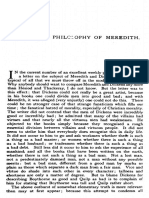 The Contemporary Review 1909-07 the Moral Philosophy of Meredith