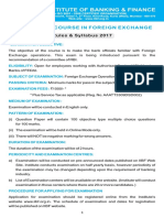 Certificate in Foreign Exchange Exam