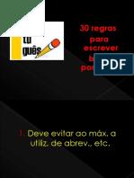 30 regras para escrever bem português.pptx