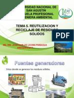 TEMA 05. Reutilizacion y Reciclaje de Residuos Sólidos