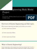 genetic engineering multi-modal project