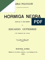 Hormiga Negra - Eduardo Gutierrez