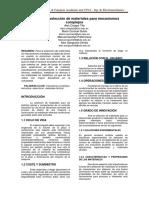 Análisis de Selección de Materiales Para Mecanismos Complejos