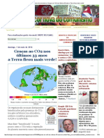 Verde_ a Cor Nova Do Comunismo_ Graças Ao CO2 Nos Últimos 33 Anos a Terra Ficou Mais Verde!