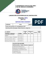 Informe Aditivos para Concreto H50B Grupo°2