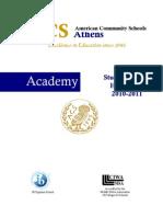 Academy Student-Parent Handbook 2010