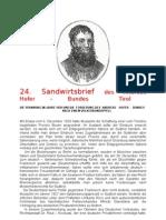 24.Sandwirtsbrief / Die Spannung Im Jahre 1928 Und Die