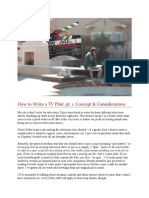 How to Write a TV Pilot