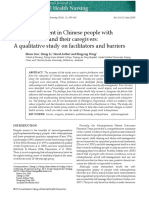 Self Management in Chinese People With Skizooo