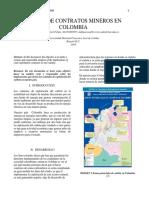 Intercentoria UD-2017. Analisis de Contratos de Explotacion Del Carbon en Colombia