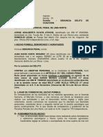 Denuncia Penal- Jorge Olivos- Coaccion