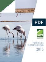 Reporte SQM Sustentable 2016