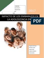 Informe de Investigacion Sobre Embarazo en Adolescentes