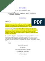 Pedro L. Linsangan v. Atty. Nicomedes Tolentino, A.C No. 6672, 4 Sept 2009