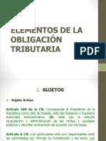 Sujetos de la Obligación Tributaria