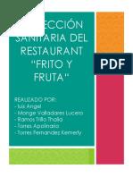 Inspección Sanitaria Del Restaurant