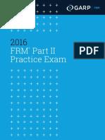GARP 2016 FRM Part II Practice Exam