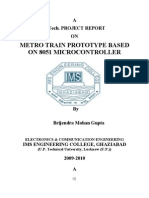 Report on Project Based on 8051 Micro Controller