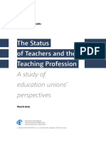 The Status of Teachers and the Teaching Profession
