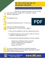 steps for admission