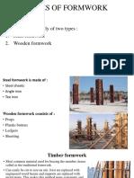 Types of Formwork