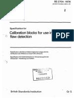 Bs 2704 (Calibration Blocks)