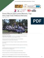 29. Pantai Masceti Jadi Lautan Manusia, Tiga Desa Adat Gelar Deklarasi Bersama - Tribun Bali