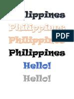 Philippines Word