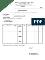 Form Monitoring Status Fisiologi Slm Pemberian Anestesi