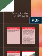 Principios de La ISO 2600