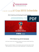 FIFA World Cup 2018 Schedule Fixtures PDF