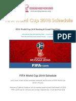 FIFA World Cup 2018 Schedule Fixtures PDF