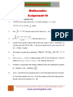 Mathematics Assignment P10