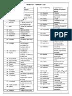 7 ICSE Word List