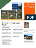 Rongomaraeroa Marae Newsletter Issue 1
