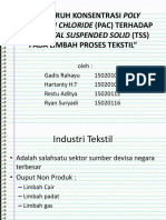 124216_120992_pengaruh Konsentrasi Poly Aluminium Chloride (Pac) Terhadap Kadar Total Suspended Solid (Tss) Pada Limbah Proses Tekstil