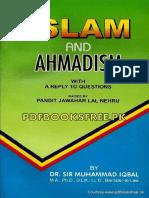 Islam and Ahmadism by Allama Muhammad Iqbal