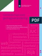 Dienst Publiek en Communicatie (2015). Gereedschap Voor Gedragsverandering
