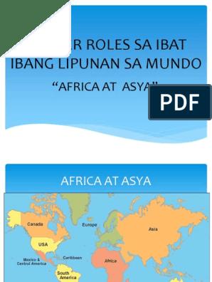 Gender Roles Sa Ibat Ibang Lipunan Sa Mundo[1]