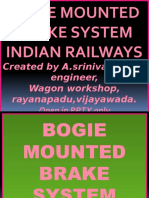 BOGIE MOUNTED BRAKE SYSTEM,INDIAN RAILWAYS.