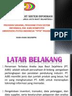 Contoh Presentasi Audit Sistem Informasi