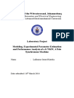 Modeling and Parameter Estimation of Synchronous Machine - GR Lekhema