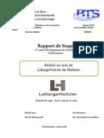 Rapport de Stage de LafargeHolcim - Meknes 2018