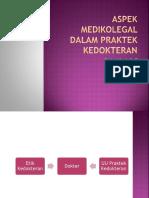 Aspek Medikolegal Dalam Praktek Kedokteran - Dr.andriani Sp.f