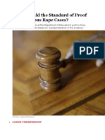 What Should the Standard of Proof Be in Campus Rape Cases