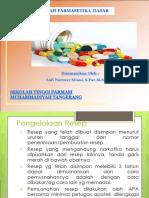P-6 Dosis, Singkatan Latin Resep